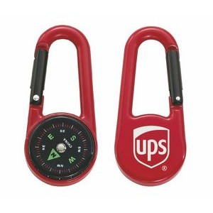 Colored Carabiner Compass - Red