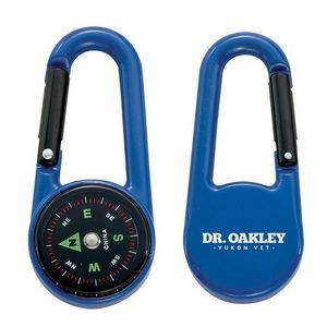 Colored Carabiner Compass - Blue