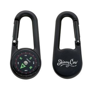 Colored Carabiner Compass - Black