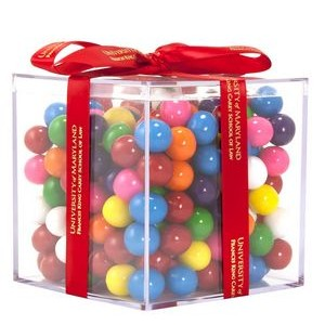 Acrylic Gift Jars Cube with Mini Gumballs