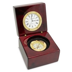 Executive Desk Clock with Compass